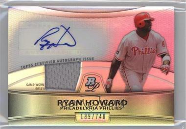 2010 Bowman Platinum - Autographed Relic Refractor #PAR-RH - Ryan Howard /740