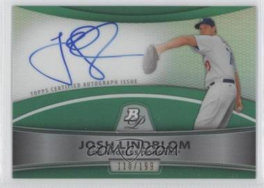 2010 Bowman Platinum - Chrome Autograph Refractor - Green #BPA-JL - Josh Lindblom /199