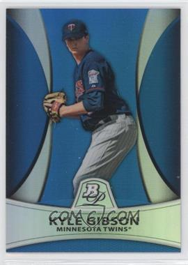 2010 Bowman Platinum - Prospects Chrome - Blue Refractor #PP20 - Kyle Gibson /99