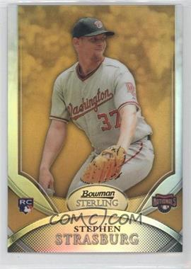 2010 Bowman Sterling - [Base] - Gold Refractor #1 - Stephen Strasburg /50