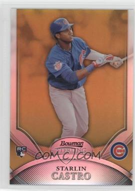 2010 Bowman Sterling - [Base] - Gold Refractor #3 - Starlin Castro /50