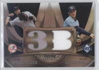 Alex Rodriguez, Evan Longoria #/25