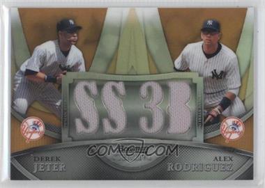 2010 Bowman Sterling - Box Topper Dual Relics - Gold Refractor #BL-19 - Derek Jeter, Alex Rodriguez /50