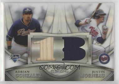 2010 Bowman Sterling - Box Topper Dual Relics - Refractor #BL-11 - Adrian Gonzalez, Justin Morneau /99
