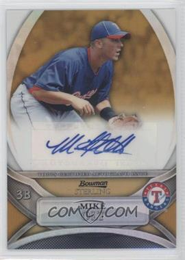 2010 Bowman Sterling - Prospects - Gold Refractor Autographs [Autographed] #BSP-MO - Mike Olt /50