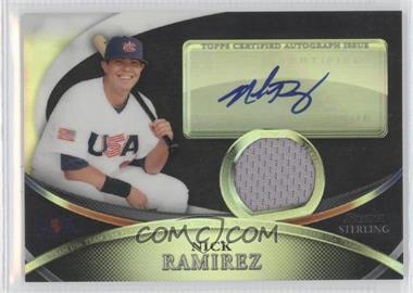 2010 Bowman Sterling - USA Baseball Autograph Relics - Black Refractor [Autographed] #USAR-37 - Nick Ramirez /25