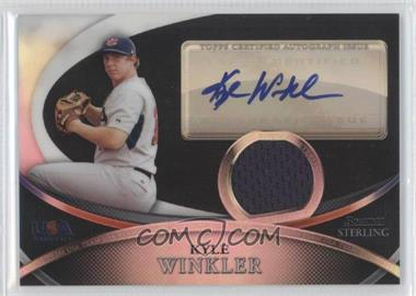 2010 Bowman Sterling - USA Baseball Autograph Relics - Black Refractor [Autographed] #USAR-41 - Kyle Winkler /25