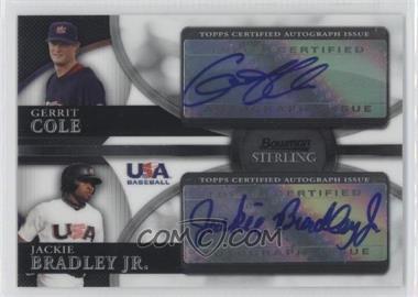 2010 Bowman Sterling - USA Baseball Dual Autographs - [Autographed] #BSDA-12 - Gerrit Cole, Jackie Bradley Jr.