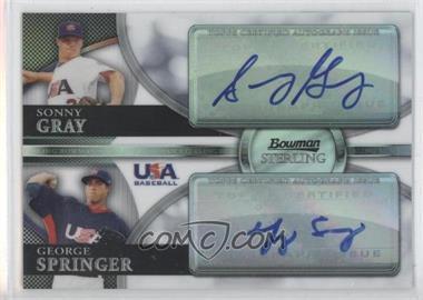 2010 Bowman Sterling - USA Baseball Dual Autographs - Refractor [Autographed] #BSDA-13 - Sonny Gray, George Springer /99