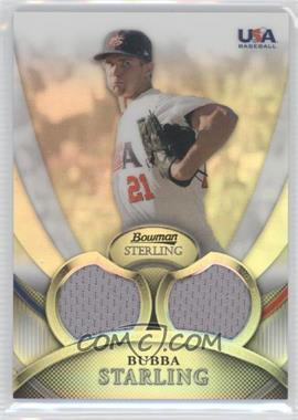 2010 Bowman Sterling - USA Baseball Relics - Dual Refractors #USAR-17 - Bubba Starling /199