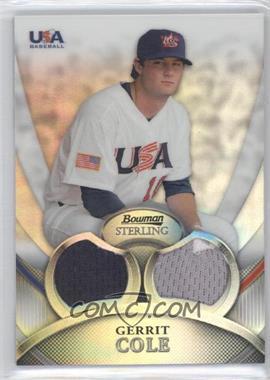 2010 Bowman Sterling - USA Baseball Relics - Dual Refractors #USAR-24 - Gerrit Cole /199
