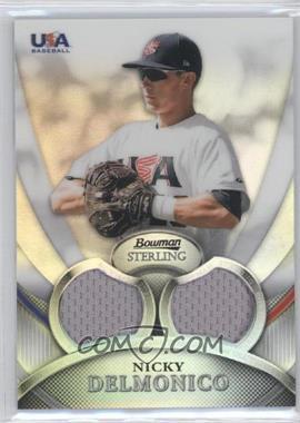 2010 Bowman Sterling - USA Baseball Relics - Dual Refractors #USAR-3 - Nicky Delmonico /199