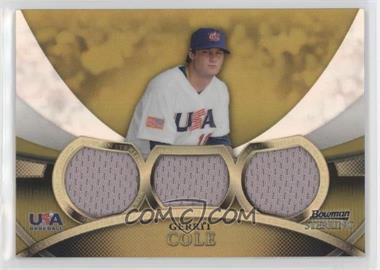 2010 Bowman Sterling - USA Baseball Relics - Triple Gold Refractor #USAR-24 - Gerrit Cole /50