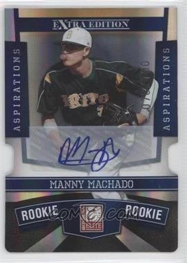 2010 Donruss Elite Extra Edition - [Base] - Aspirations Die-Cut Signatures #132 - Manny Machado /100