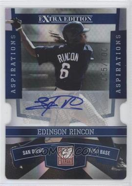 2010 Donruss Elite Extra Edition - [Base] - Aspirations Die-Cut Signatures #77 - Edinson Rincon /100