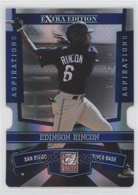 2010 Donruss Elite Extra Edition - [Base] - Aspirations Die-Cut #77 - Edinson Rincon /200