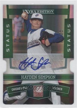2010 Donruss Elite Extra Edition - [Base] - Status Emerald Die-Cut Signatures [Autographed] #50 - Hayden Simpson /25