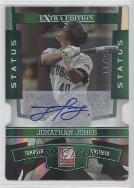 2010 Donruss Elite Extra Edition - [Base] - Status Emerald Die-Cut Signatures [Autographed] #78 - Jonathan Jones /25