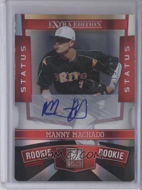 2010 Donruss Elite Extra Edition - [Base] - Status Red Die-Cut Signatures [Autographed] #132 - Manny Machado /50