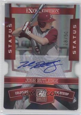 2010 Donruss Elite Extra Edition - [Base] - Status Red Die-Cut Signatures [Autographed] #18 - Josh Rutledge /50
