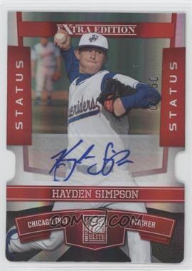 2010 Donruss Elite Extra Edition - [Base] - Status Red Die-Cut Signatures [Autographed] #50 - Hayden Simpson /50