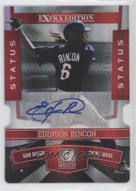 2010 Donruss Elite Extra Edition - [Base] - Status Red Die-Cut Signatures [Autographed] #77 - Edinson Rincon /50