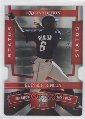 2010 Donruss Elite Extra Edition - [Base] - Status Red Die-Cut #77 - Edinson Rincon /100
