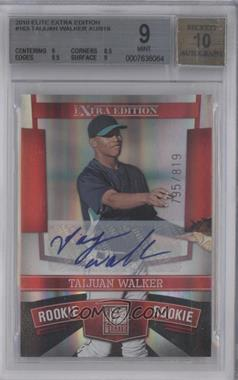 2010 Donruss Elite Extra Edition - [Base] #163 - Taijuan Walker /819 [BGS 9]