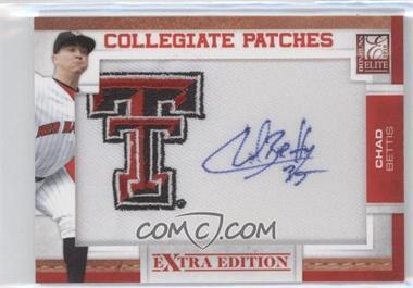 2010 Donruss Elite Extra Edition - Collegiate Patches Signatures #CB - Chad Bettis /125