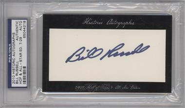 2010 Historic Autographs Cut Autographs - Hall of Fame & All-Star Edition - [Autographed] #BIRU - Bill Russell /29 [PSA/DNACertifiedAuto]