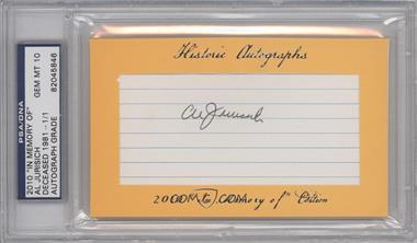 "2010 Historic Autographs Cut Autographs - ""In Memory of"" Edition - [Autographed] #ALJU - Al Jurisich /1 [PSA/DNACertifiedAuto]"