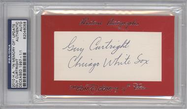 "2010 Historic Autographs Cut Autographs - ""In Memory of"" Edition - [Autographed] #GUCU - Guy Curtright /1 [PSA/DNA Certified Auto]"
