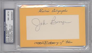 "2010 Historic Autographs Cut Autographs - ""In Memory of"" Edition - [Autographed] #JOBO - John Boozer /1 [PSA/DNA Certified Auto]"