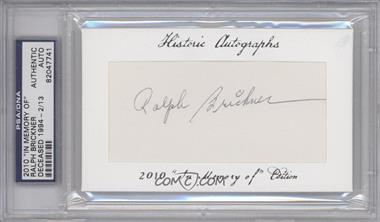 """2010 Historic Autographs Cut Autographs - """"In Memory of"""" Edition - [Autographed] #RABR - Ralph Brickner /13 [PSA/DNACertifiedAuto]"""