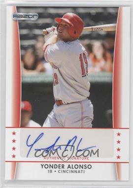 2010 Razor Autographs - [Base] #YA - 2 - Yonder Alonso