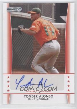 2010 Razor Autographs - [Base] #YA - 3 - Yonder Alonso