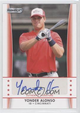 2010 Razor Autographs - [Base] #YA - 5 - Yonder Alonso