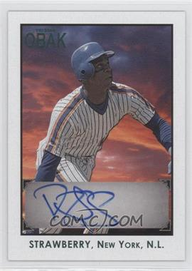 2010 TRISTAR Obak - Autographs - Green #A79 - Darryl Strawberry /25
