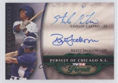 2010 TRISTAR Pursuit - [Base] - Green Autographs [Autographed] #159 - Starlin Castro, Brett Jackson /25