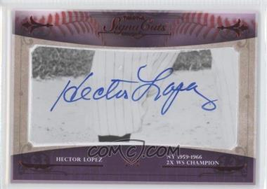 2010 TRISTAR Signa Cuts Cut Autographs - [Base] - Red #HELO - Hector Lopez /5