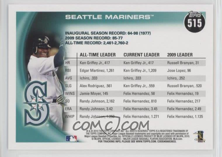 e7507351ef Report Error. 2010 Topps - [Base] #515 - Seattle Mariners Team, Ken Griffey  Jr