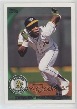 2010 Topps - [Base] #95.2 - Rickey Henderson (Legend)