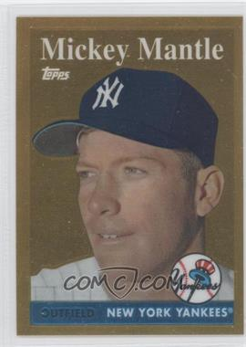 2010 Topps - Factory Set Mickey Mantle Chrome Reprints - Gold #1 - Mickey Mantle