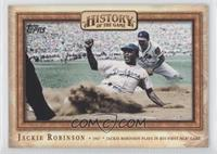 Jackie Robinson Plays in His First MLB Game
