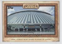 First MLB Game Played in Japan 2000
