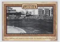American League Elevated to Major League Status
