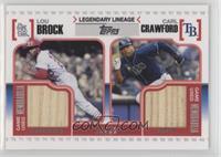 Lou Brock, Carl Crawford /50