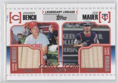 2010 Topps - Legendary Lineage - Dual Relics #LLR-MB - Johnny Bench, Joe Mauer /50