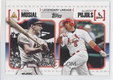 2010 Topps - Legendary Lineage #LL-16 - Stan Musial, Albert Pujols