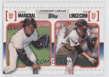 2010 Topps - Legendary Lineage #LL-51 - Juan Marichal, Tim Lincecum
